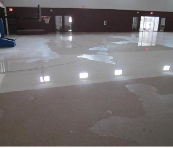 Water Damage in Local School Gym